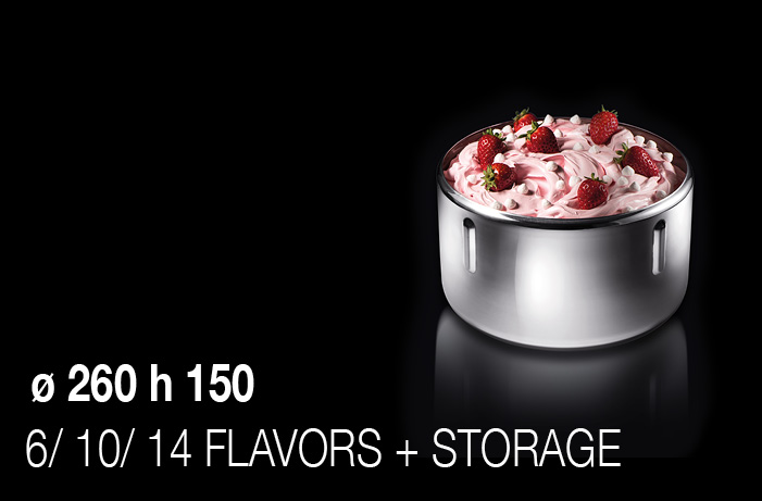 BRX _ Vista, diameter 260 height 150, 6/10/14 flavors + storage