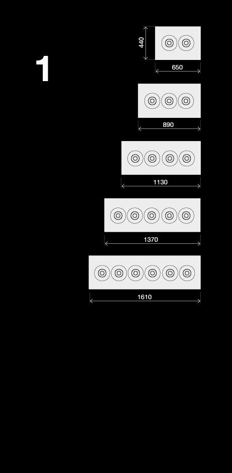 BRX _ Banchi pozzetto a glicole 1 fila responsive