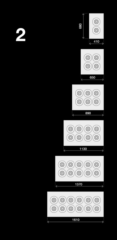 BRX _ Banchi pozzetto a glicole 2 file responsive