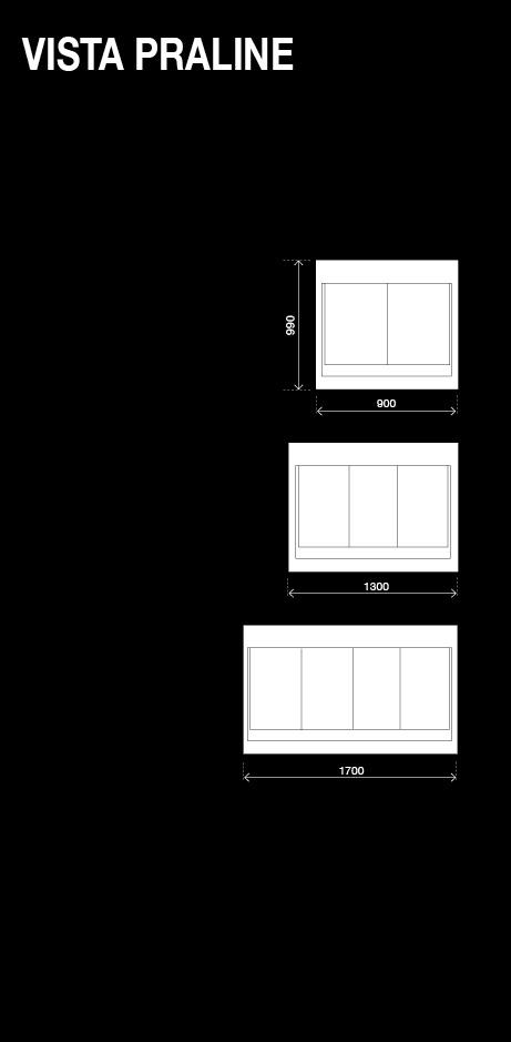 BRX _ Vista Praline, vetrina pralineria configurazioni resp