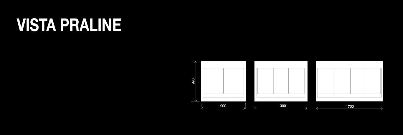 BRX _ Vista Praline, vetrina pralineria configurazioni